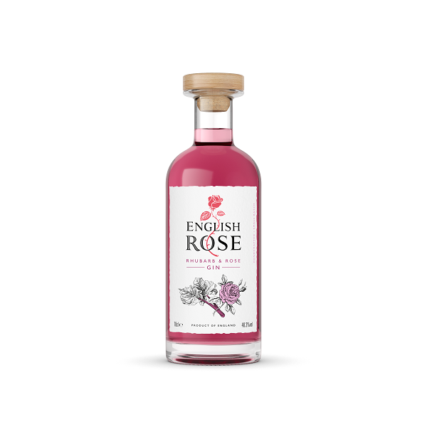 English Rose Rhubarb & Rose Gin - thedropstore.com