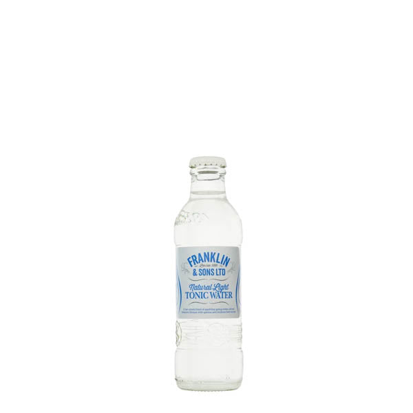 Franklin & Sons Natural Light Tonic Water 24x200ml - thedropstore.com