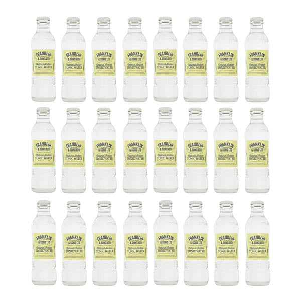 Franklin & Sons Natural Indian Tonic Water 24x200ml - thedropstore.com