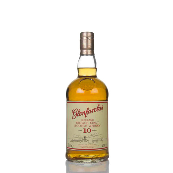 Glenfarclas 10 Year Old Single Malt Scotch Whisky - thedropstore.com