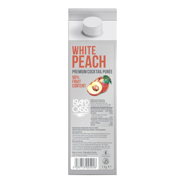 Island Oasis Premium White Peach Puree - Chalié Richards & Co Ltd T/A The Drop Store