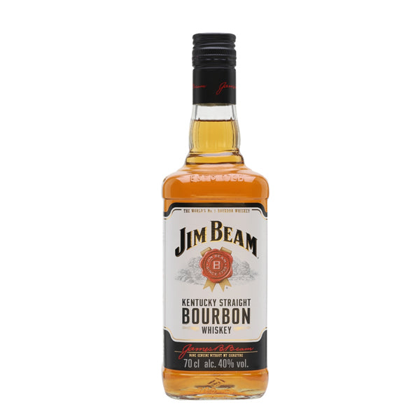 Jim Beam White Label Kentucky Straight Bourbon Whiskey - thedropstore.com