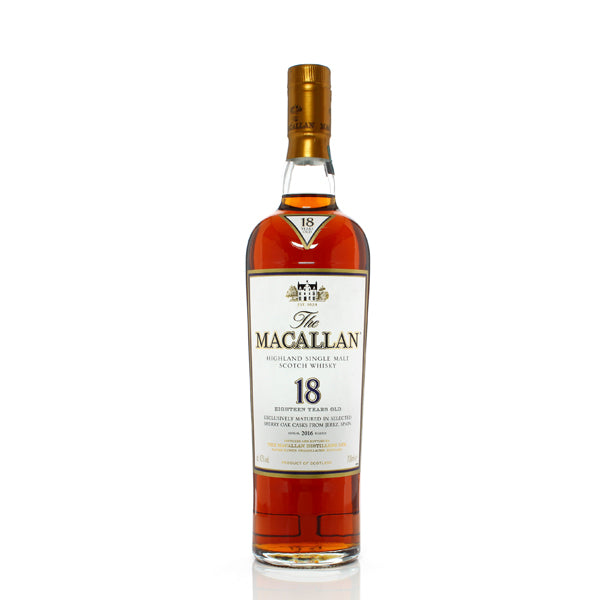 Macallan Sherry Oak 18 Year Old Single Malt Scotch Whisky - thedropstore.com