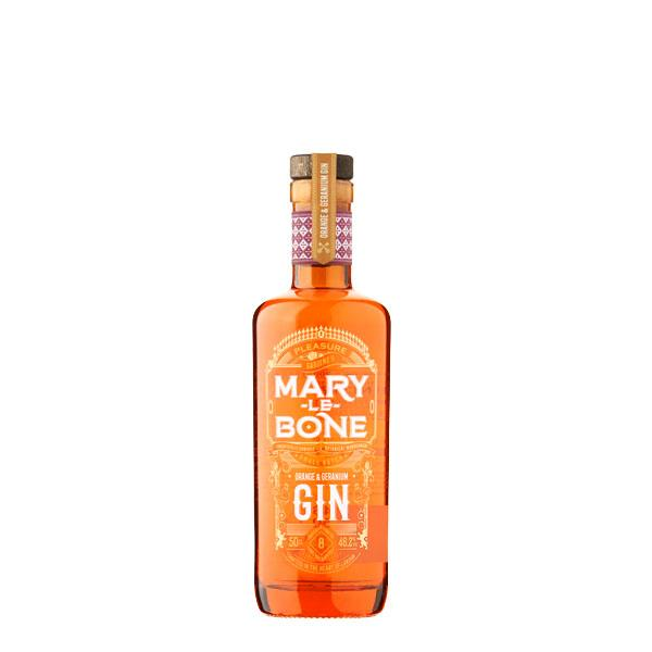 Mary-Le-Bone Orange & Geranium Gin 50cl Bottle - thedropstore.com