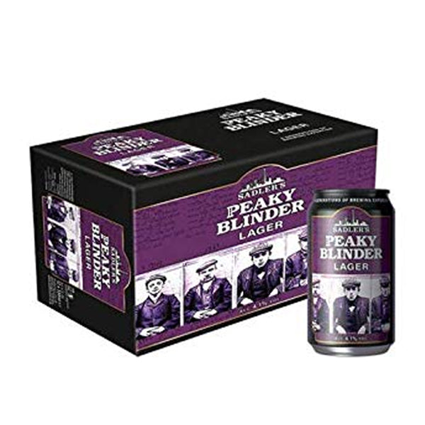 Peaky Blinder Craft Lager - 12X330ml Can Case 4.1% - thedropstore.com
