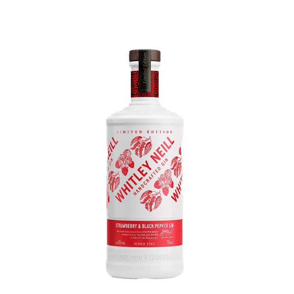 Whitley Neill Strawberry & Black Pepper Gin - thedropstore.com