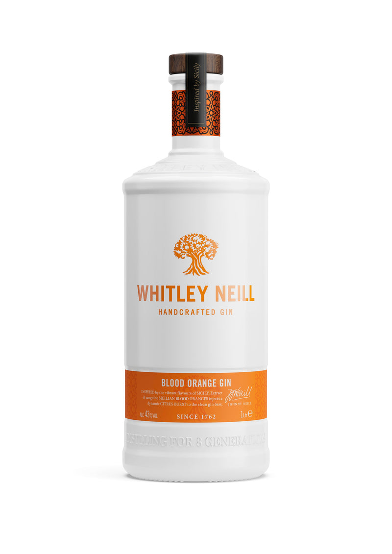 Whitley Neill Blood Orange Gin 1lt - thedropstore.com