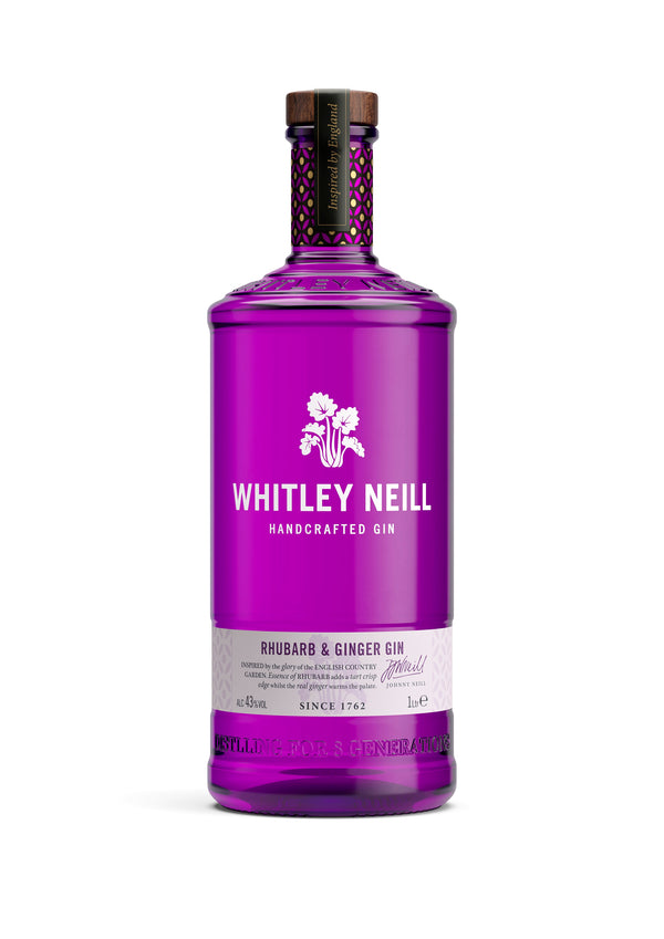 Whitley Neill Rhubarb & Ginger Gin 1lt - thedropstore.com
