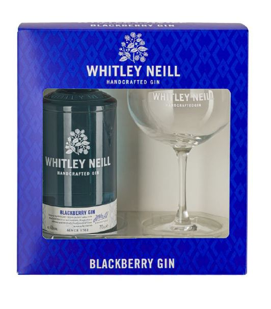 Whitley Neill Blackberry Gin Gift Pack with Glass - thedropstore.com