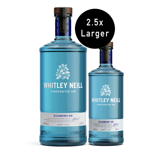 Whitley Neill Blackberry Gin Extra Large 1.75 Litre - thedropstore.com