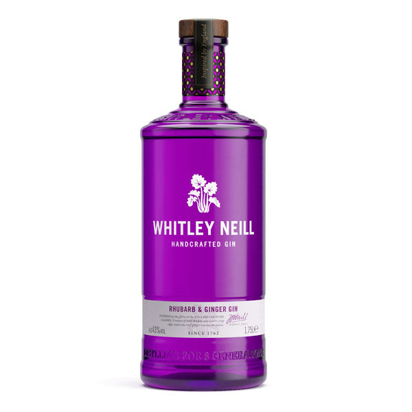 Whitley Neill Rhubarb & Ginger Gin Extra Large 1.75 Litre - Chalié Richards & Co Ltd T/A The Drop Store