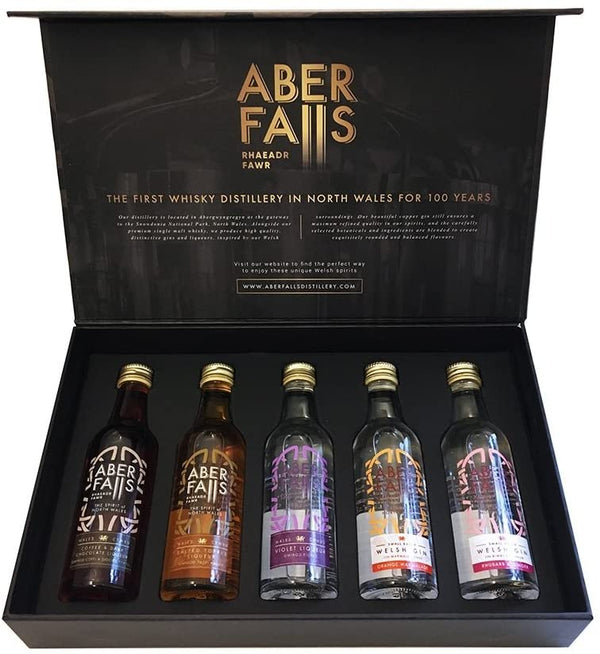 Aber Falls Gin Selection Gift Pack - Box of 5x 5cl Miniature Bottles
