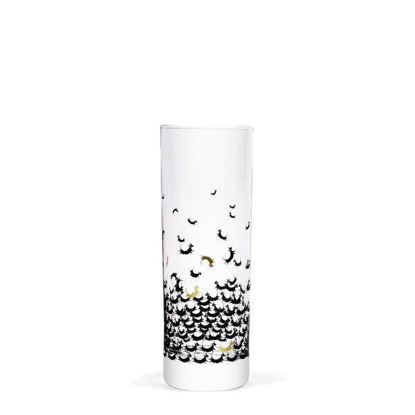 Black Cow Vodka High-ball Glass