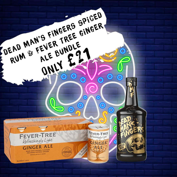 Dead Man's Fingers Spiced Rum & Fever Tree Ginger Ale Bundle