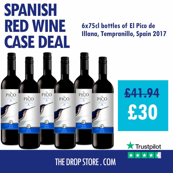 Spanish Red Wine Case Deal 6 bottles El pico - thedropstore.com