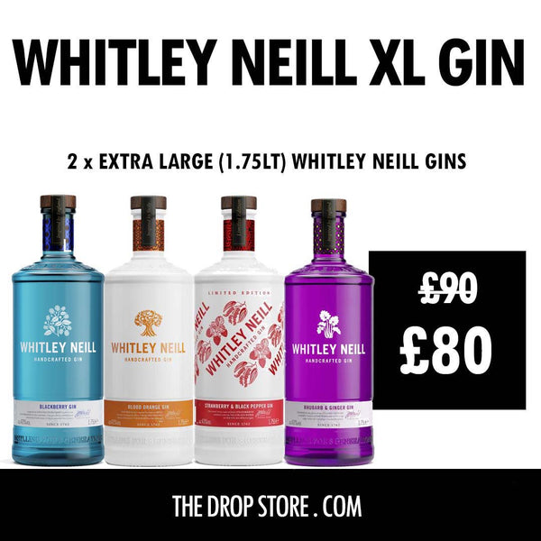 Whitley Neill Gins Extra Large 1.75 Litres 2 for £80