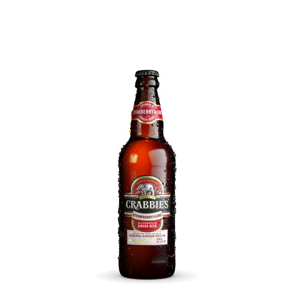 Crabbie's Strawberry & Lime Ginger Beer 12 Bottle Case 500ml