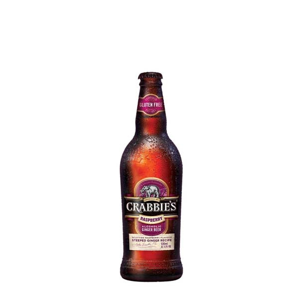 Crabbie's Raspberry Ginger Beer 12x500ml - thedropstore.com