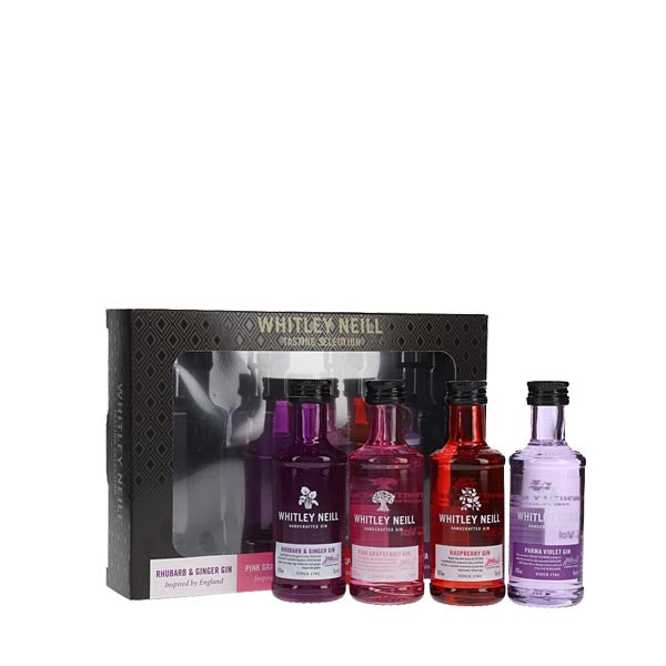 Whitley Neill Gin Flavoured Tasting Selection 4x5cl