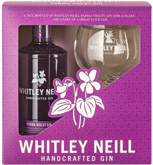 Whitley Neill Parma Violet Gin Gift Pack with Glass - thedropstore.com