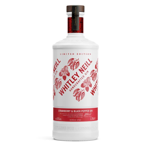 Whitley Neill Strawberry & Black Pepper Gin Extra Large 1.75 Litre - thedropstore.com