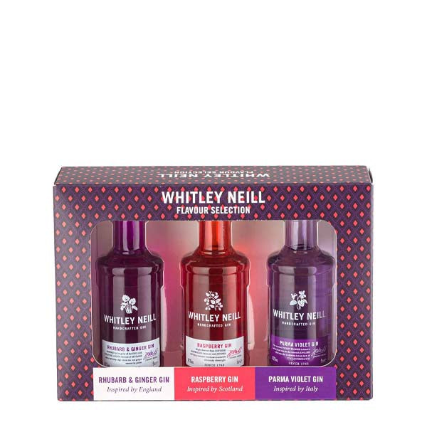 Whitley Neill Gin Flavoured Tasting Pack 3x5cl