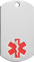 Medical Alert Dogtags - 1-1/8 inches x 2 inches
