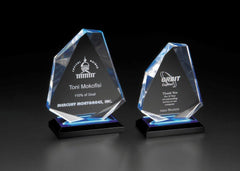 ACRYLIC AWARDS - Impress Reflection Series - Diamond Jewel - 6-1/2  inch x 7-3/4  inch