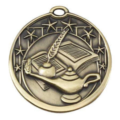 Star Series Sport Medals with ribbon- 2 inch medal - Lamp Of Knowledge