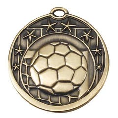 Star Series Sport Medals with ribbon- 2 inch medal - Soccer