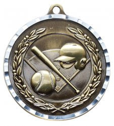 Victory Trophy Medals - Baseball - 2 inch Medals diamond cut