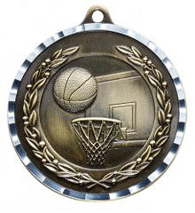 Victory Trophy Medals - Basketball - 2 inch Medals diamond cut