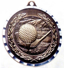Victory Trophy Medals - Golf - 2 inch Medals diamond cut