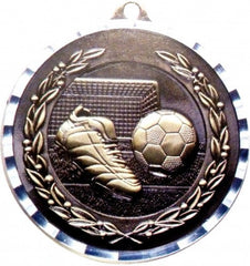 Victory Trophy Medals - Soccer - 2 inch Medals diamond cut