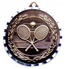 Victory Trophy Medals - Tennis - 2 inch Medals diamond cut