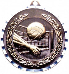 Victory Trophy Medals - Volleyball - 2 inch Medals diamond cut