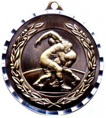 Victory Trophy Medals - Wrestling - 2 inch Medals diamond cut