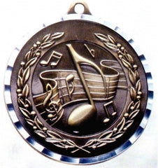 Victory Trophy Medals - Music - 2 inch Medals diamond cut