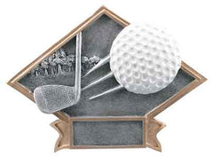 "6"" x 8 1/2"" Golf Diamond Plate Resin"