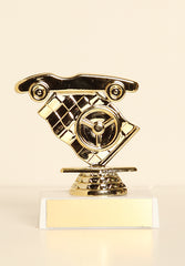 "Race Car / Pinewood Derby Figure on Base 6"" Trophy"