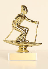 "Male Snow Skier Figure on Base 6"" Trophy"