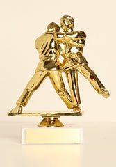 "Male Judo / Double Figure on Base 6"" Trophy"