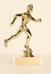 "Male Track (Runner) Figure on Base 6"" Trophy"