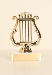 "Music Lyre Figure on Base 6"" Trophy"