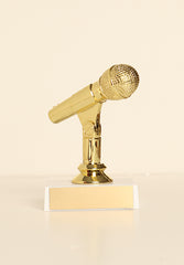 "Microphone Figure on Base 6"" Trophy"