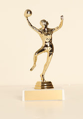 "Female Basketball Hook Shot Figure on Base 6"" Trophy"