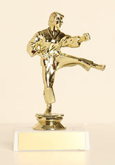 "Female Karate Figure on Base 6"" Trophy"
