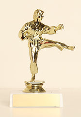 "Male Karate Figure on Base 6"" Trophy"