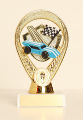 "Pinewood Derby Figure on Base 6"" Trophy"