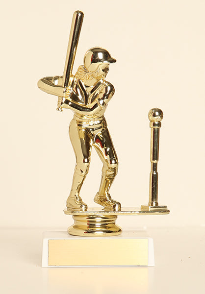 "Female T-Ball Figure on Base 6"" Trophy"